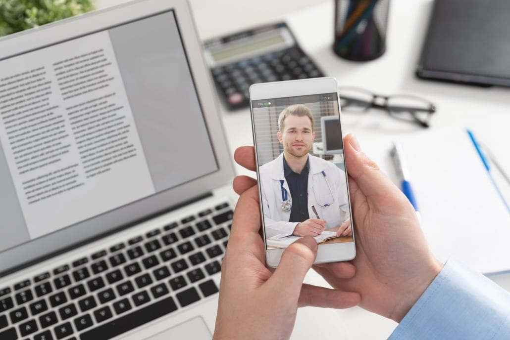 Video chat with male doctor