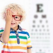 child at eye appointment